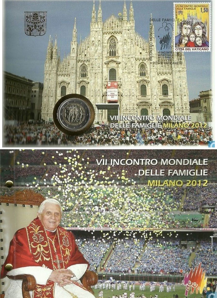 2012 Meeting of Families Milano Cover & Coin Photo