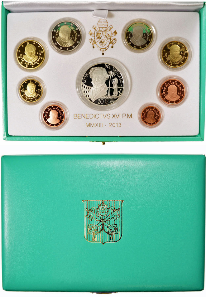 2013 Vatican 8 Euro Coin PROOF Set: Giuseppe Verdi Photo