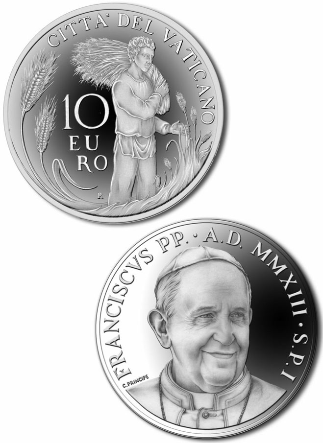 2013 Vatican 10 Euro Priestly Vocations Photo