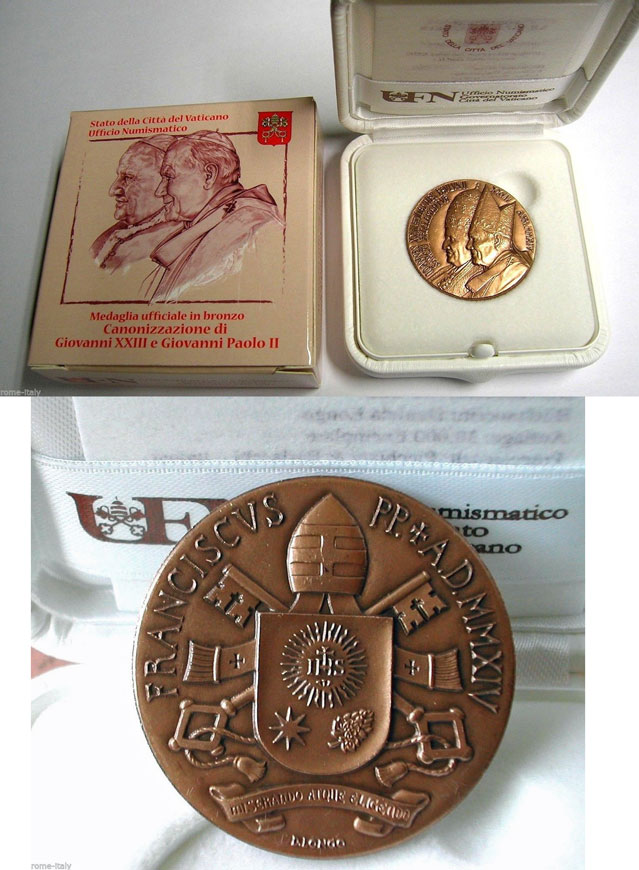 2014 Canonization John XXIII-John Paul II Bronze Photo