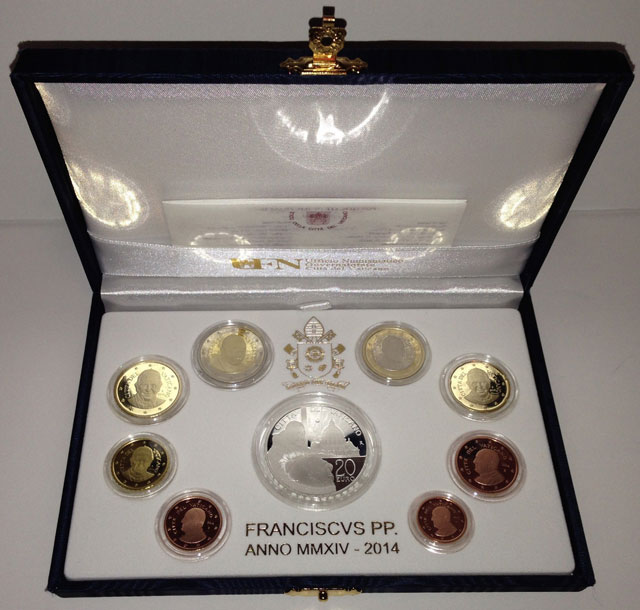2014 Proof Set With Canonization Silver Coin Photo