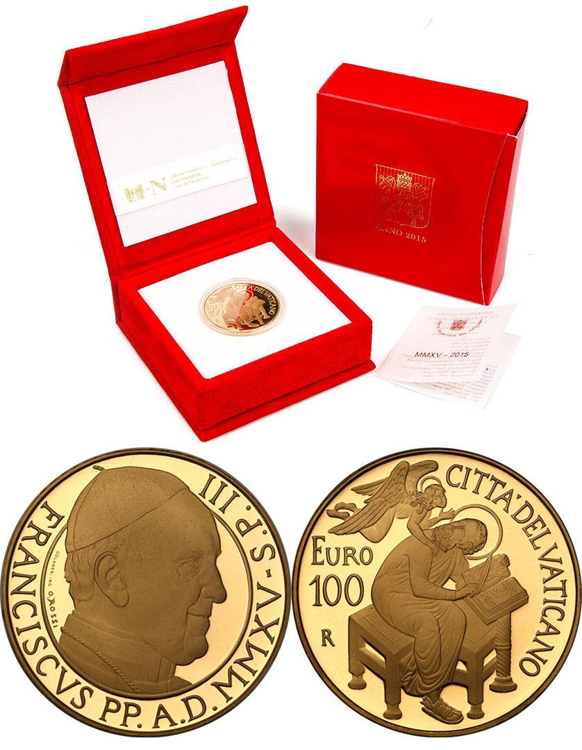 2015 Vatican 100 Euro Gold St. Matthew Photo