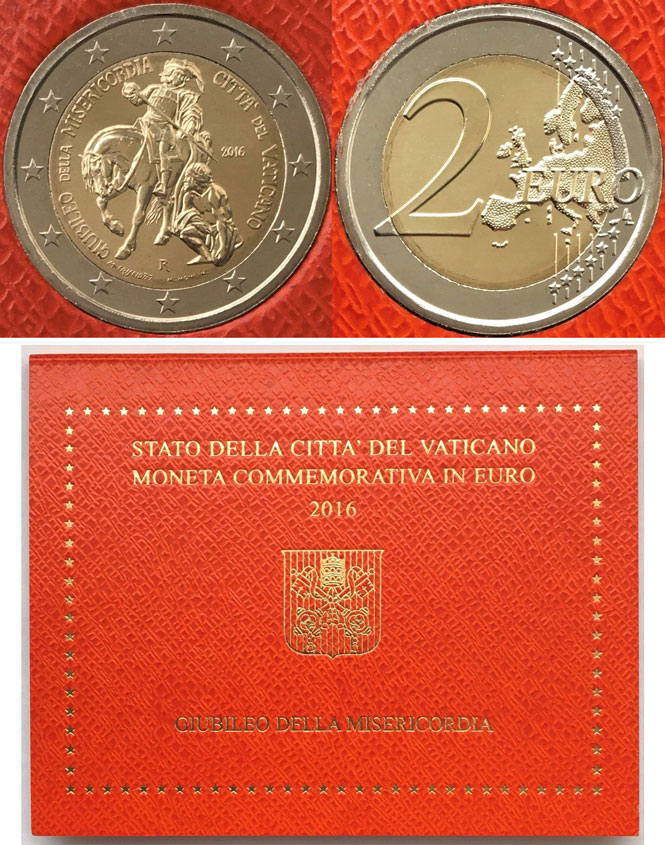 2016 Vatican 2 Euro St. Martin of Tours Photo