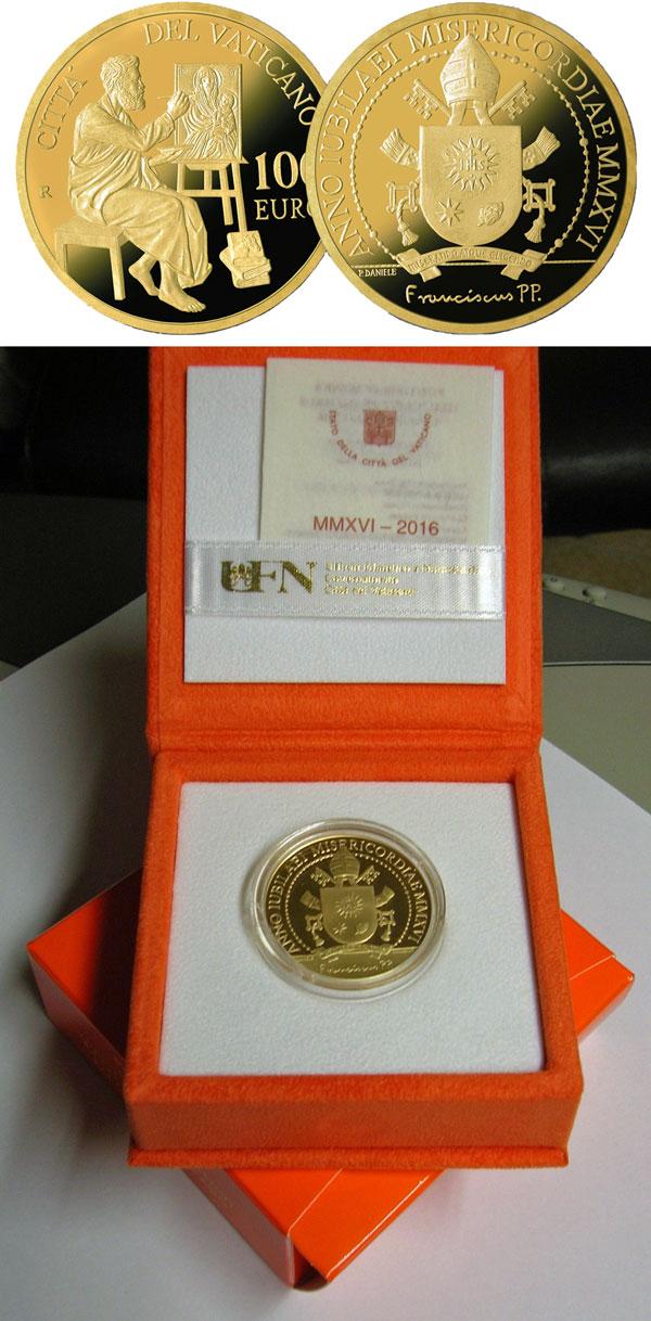 2016 Vatican 100 Euro Gold St. Luke Photo