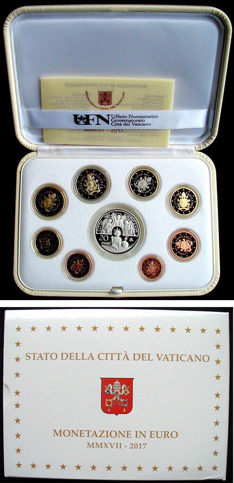 2017 Proof Set With 20 Euro Archangels Photo