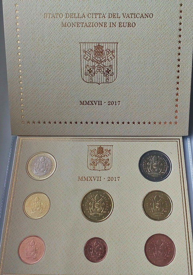 2017 Vatican Coin Set, Pope Francis Photo