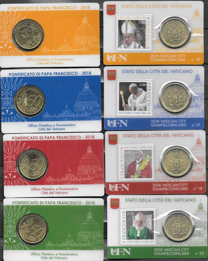 2018 Coin & Stamp Cards #18-21 Photo