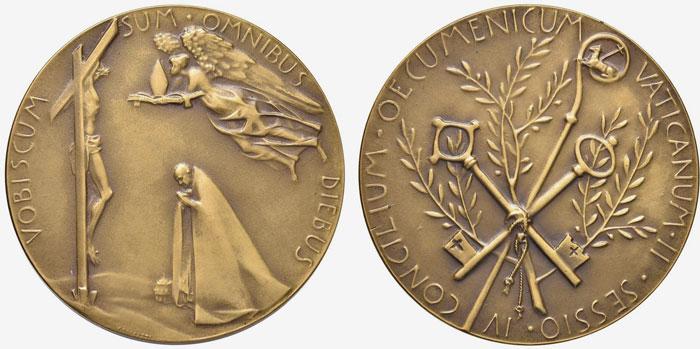 Paul VI 1965 Ecumenical Council Bronze Medal Photo