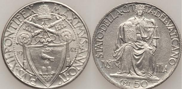 1942 Vatican City 50 Centesimi Photo