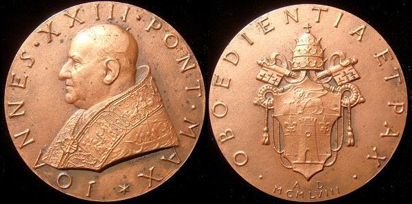 John XXIII 1958 Election Medal 48mm Bronze Photo