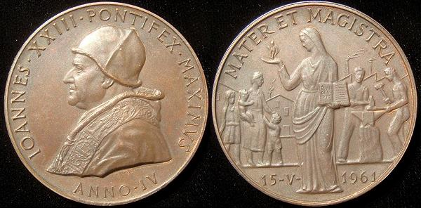 John XXIII 1962 Anno IV Bronze Medal Photo