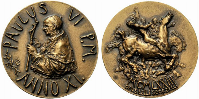 Paul VI (1963-78) Anno XI Bronze Medal Photo
