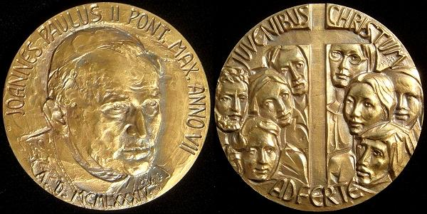 John Paul II Anno VII Bronze Medal Photo