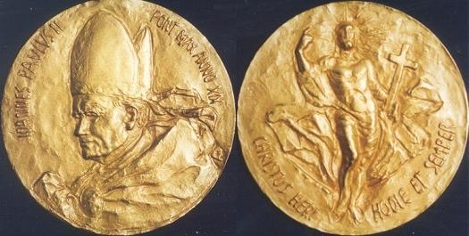 John Paul II Anno XIX Bronze Medal Photo