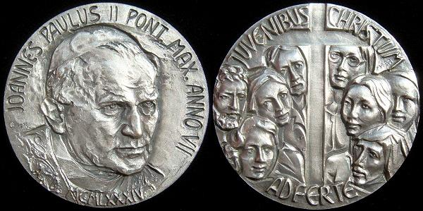 John Paul II Anno VII Silver Medal Photo