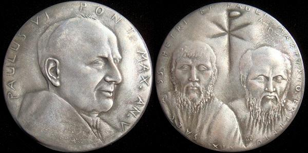Paul VI (1963-78) Anno V Silver Medal Photo
