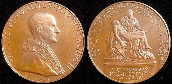 Paul VI (1963-78) Anno II Bronze Medal Photo