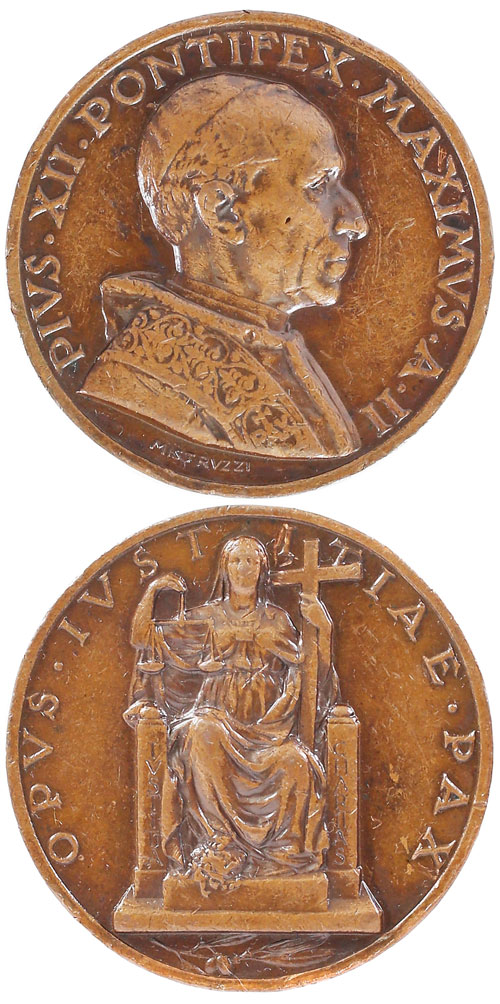Pius XII (1939-58) Anno II Bronze Medal Photo
