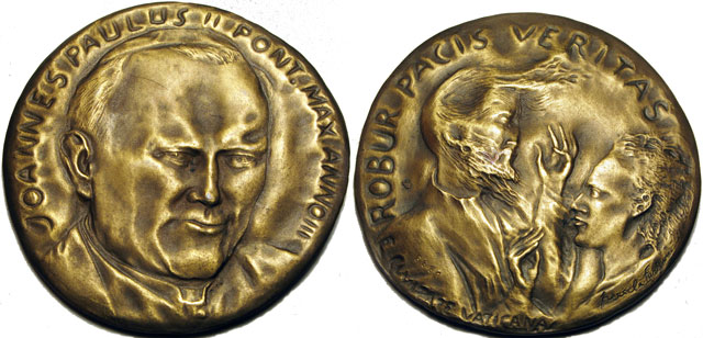 John Paul II Anno III Bronze Medal Photo