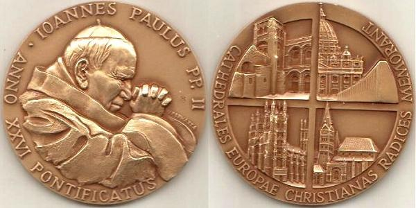John Paul II Anno XXVI Bronze Medal Photo