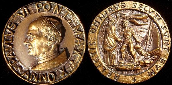 Paul VI (1963-78) Anno X Bronze Medal Photo