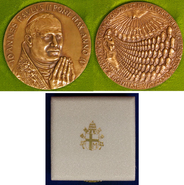 John Paul II Anno IV Bronze Medal Photo