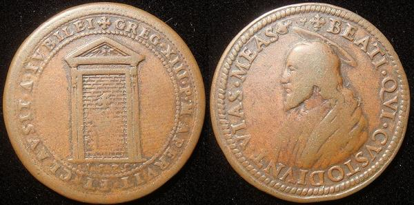 Gregory XIII (1572-85) 1575 Jubilee Bronze Medal Photo