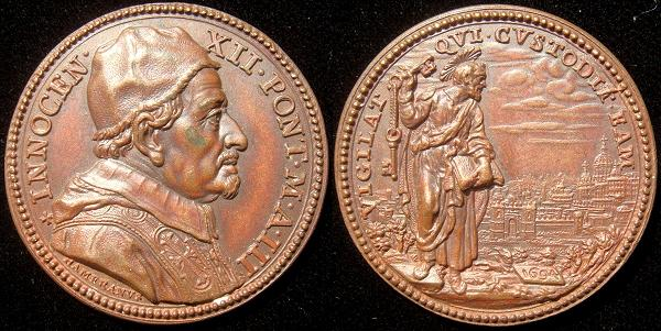 Innocent XII (1691-1700) Anno III Bronze Medal Photo
