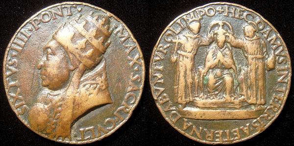 Sixtus IV (1471-84) Bronze Coronation Medal Photo