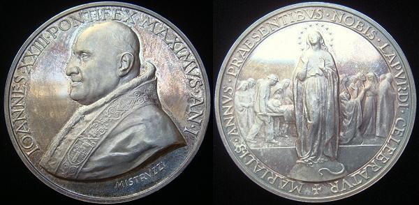 John XXIII 1959 Anno I Silver Medal Photo