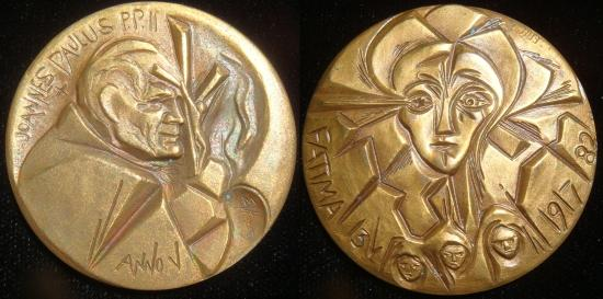 John Paul II Anno V Bronze Medal Fatima Photo