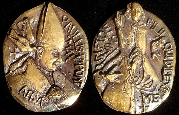 Paul VI (1963-78) Anno VI Bronze Medal Photo