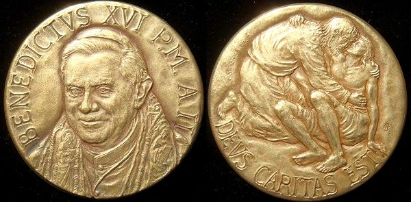 Benedict XVI Anno II Bronze Medal Photo
