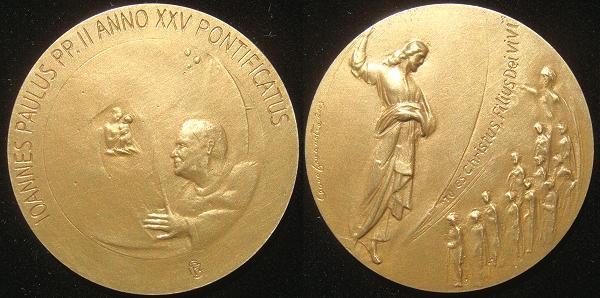 John Paul II Anno XXV Bronze Medal Photo