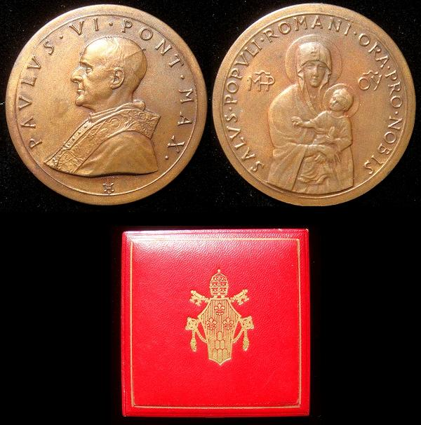 Paul VI 1965 SALUS POPULI ROMANI Bronze Medal Photo