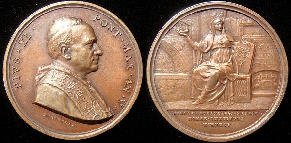 Pius XI (1922-39) Anno V Christian Archaeology Photo