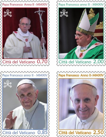 Pope Francis Anno II Stamps Photo