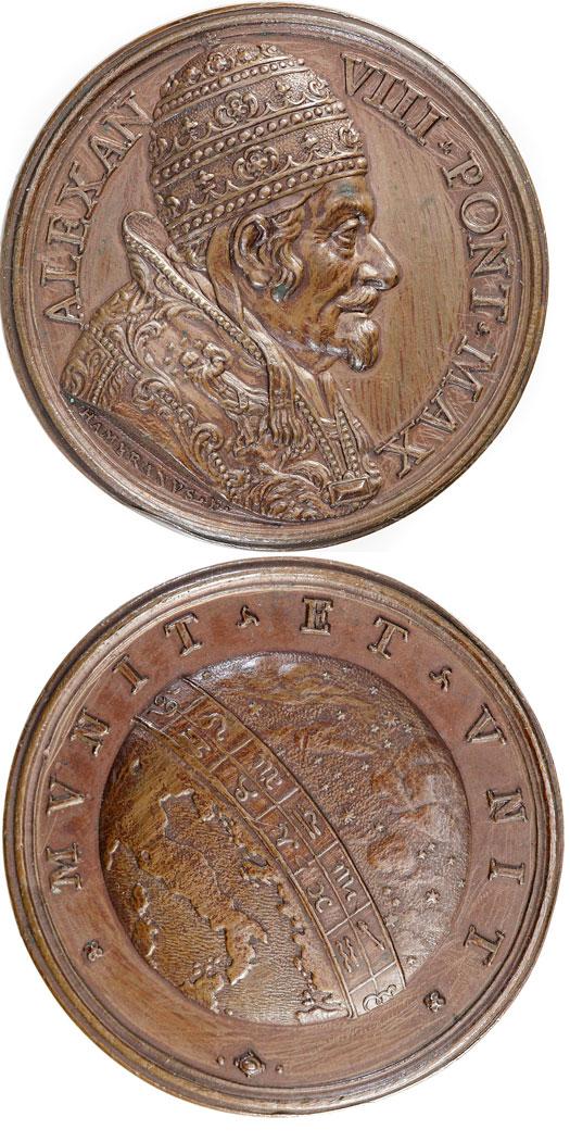 Alexander VIII (1689-91) Zodiac Papal Medal Photo