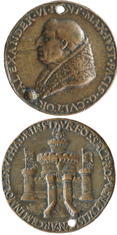 Alexander VI (1492-1503) Renaissance Medal Photo