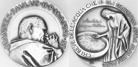 John Paul II Anno XI Silver Medal Women's Dignity Photo