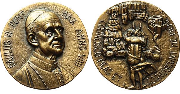 Paul VI (1963-78) Anno IX Bronze Medal Photo