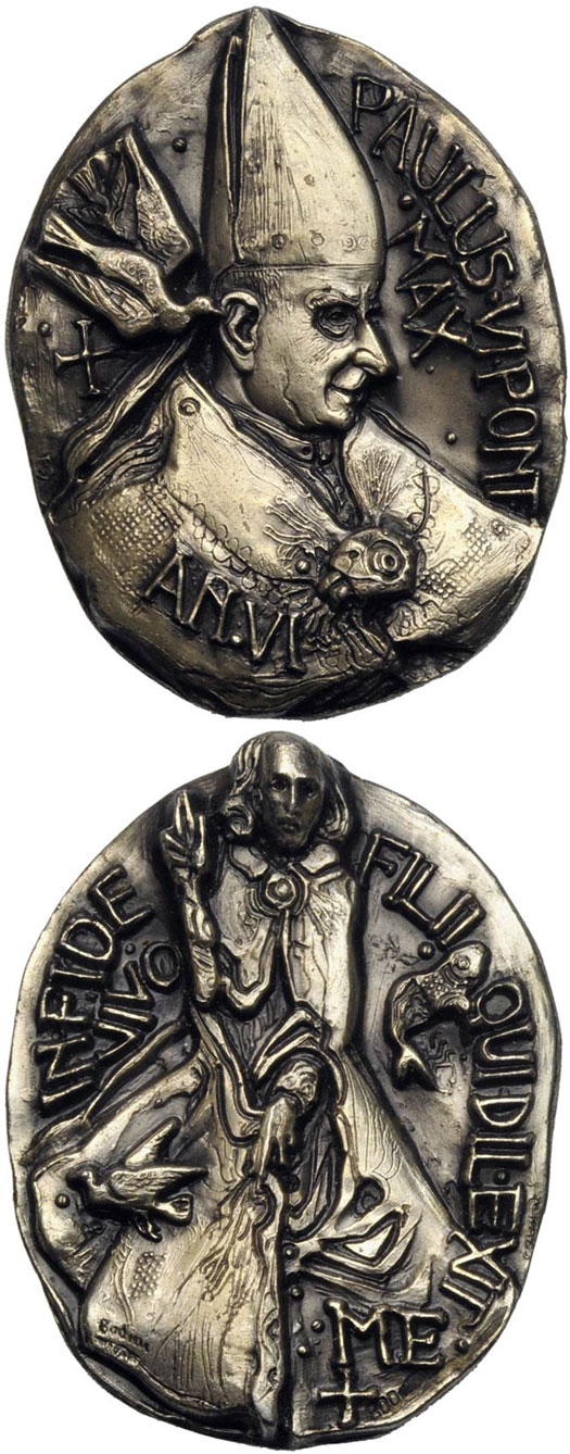 Paul VI (1963-78) Anno VI Silver Medal Photo
