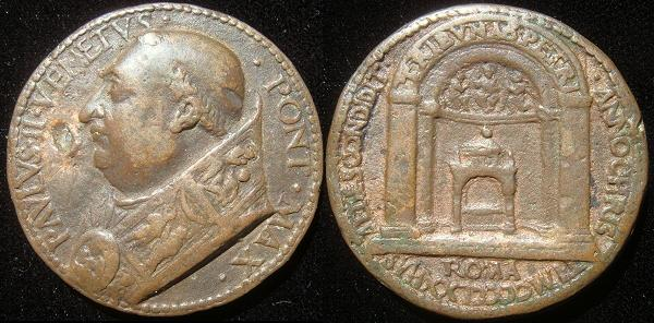 Paul II (1464-71) ORIGINAL Bronze Medal 1470 Photo