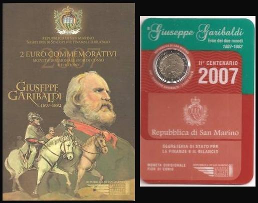 2007 San Marino 2 Euro Bimetal Garibaldi Photo