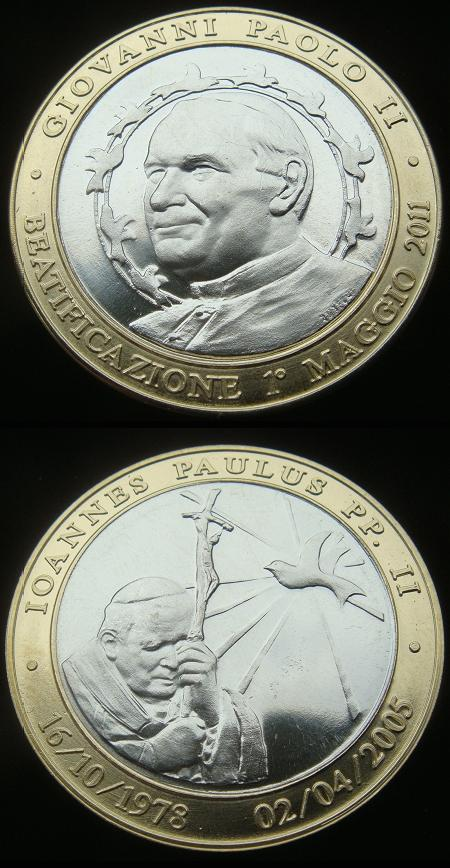 2011 Beatification Pope John Paul II Medal Photo