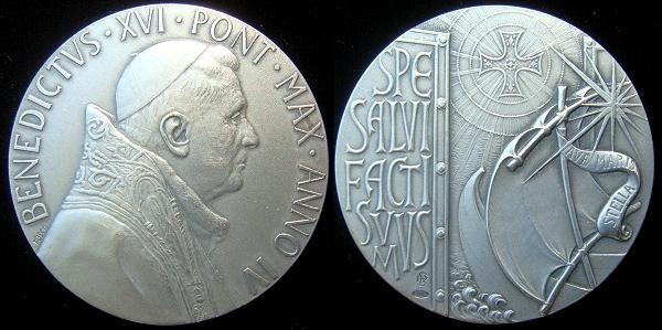 Benedict XVI Anno IV Silver Medal Photo
