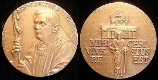 Benedict XVI Anno V Bronze Medal Photo