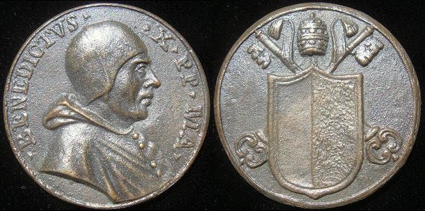Antipope Benedict X (1058-9) Cast Bronze Medal Photo
