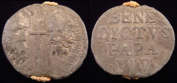 Benedict XIV (1740-58) Lead Seal, Papal Bulla Photo