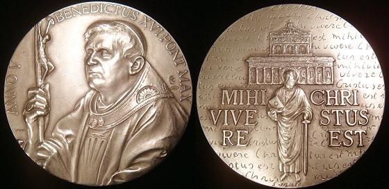 Benedict XVI Anno V Silver Medal Photo